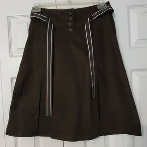 H&M Pleated Belted Skirt. Sz. 6.